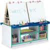 Jonti-Craft 4 Station Art Center - Freckled Gray, Green Stand - Floor Standing - Assembly Required - 1 Each
