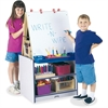Rainbow Accents 2 Station Art Center - Freckled Gray, Navy Stand - Floor Standing - Assembly Required - 1 Each