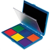 Learning Resources 7 Color Stamp Pad Ink Pad - 1 Each - Black, Green, Blue, Orange, Red, Yellow, Purple Ink