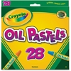 Crayola Jumbo-sized Oil Pestels - Apricot, Black, Blue, Green Blue, Blue-violet, Brown, Gray, Green, Metallic Silver, Orange, Peach, ... - 28 / Pack