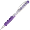 Pentel Twist-Erase Click Mechanical Pencil - #2, HB Lead Degree (Hardness) - 0.9 mm Lead Diameter - Refillable - Violet, Transparent Barrel - 1 Each