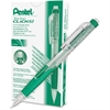 Pentel Twist-Erase Click Mechanical Pencil - #2, HB Lead Degree (Hardness) - 0.7 mm Lead Diameter - Refillable - Green, Transparent Barrel - 1 Each