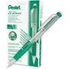 Pentel Twist-Erase Click Mechanical Pencil - #2, HB Lead Degree (Hardness) - 0.7 mm Lead Diameter - Refillable - Green, Transparent Barrel - 1 Each