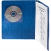 Fellowes Adhesive CD Holders - 5 pack - Sleeve - Slide Insert - Polyvinyl Chloride (PVC) - Clear - 1 CD/DVD