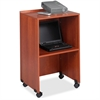 "Safco Lectern Base/Media Cart - 1 x Shelf(ves) - 45"" Height - Laminate - Particleboard - Cherry"