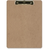 "OIC Low-Profile Wood Clipboard - 1"" Clip Capacity - 9"" x 12.50"" - Low-profile - Hardboard - Brown"