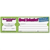 "Scholastic Good Behavior! Ticket Award - 8.50"" x 2.75"" - White"