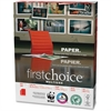"Domtar First Choice MultiUse - Letter - 8.50"" x 11"" - 24 lb Basis Weight - 3 x Hole Punched - Smooth - 98 Brightness - 5000 / Carton - White"