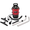 """Sanitaire Backpack Vacuum Cleaner - 1.40 kW Motor - 1.38 kW Air Watts - 1.50 gal - 12"""" Cleaning Width - 50 ft Cable Length - 897.7 gal/min - 12 A - Red"""