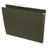 """Business Source Standard Hanging File Folder - Letter - 8 1/2"""" x 11"""" Sheet Size - 1/3 Tab Cut - 11 pt. Folder Thickness - Standard Green - Recycled - 25 / Box"""
