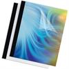 "Fellowes Thermal Heavy-gauge Binding Covers - 11"" Height x 8.5"" Width x 0.1"" Depth - 62.5 mil Maximum Capacity - 15 x Sheet Capacity - Rectangular - Black, Clear - Polyvinyl Chloride (PVC) - 10 / Pack"