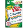 Crayola Dry-Erase Crayon - Assorted - 8 / Box