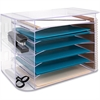 "Sparco Jumbo Desk Sorter - 3 Pocket(s) - 12.3"" Height x 18.1"" Width x 10"" Depth - Desktop, Wall Mountable - Clear - 1Each"