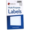 "MACO White Multi-Purpose Labels - Removable Adhesive - 0.50"" Width x 0.75"" Length - Rectangle - White - 1000 / Box"