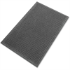 "Genuine Joe Eternity Mat - Indoor - 36"" Length x 24"" Width - Plastic, Rubber - Charcoal Gray"