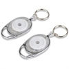 Tatco Reel Key Chain with Chrome Carabiner - 6 / Pack - Chrome