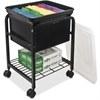 Advantus Storage Rolling File Cart - 4 Casters - Metal - Black