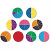 Rainbow Fraction Deluxe Geometry Shape - Theme/Subject: Learning - Skill Learning: Color Matching, Addition, Subtraction, Comparison, Fraction - 9 Pieces - 6+