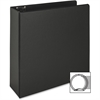 "Business Source Vinyl Ring Binder - 3"" Binder Capacity - Letter - 8 1/2"" x 11"" Sheet Size - 3 x Round Ring Fastener(s) - Inside Front & Back Pocket(s) - Vinyl - Black - Recycled - 1 Each"