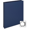 "Business Source Vinyl Ring Binder - 1"" Binder Capacity - Letter - 8 1/2"" x 11"" Sheet Size - 3 x Round Ring Fastener(s) - Inside Front & Back Pocket(s) - Vinyl - Dark Blue - 1 Each"