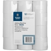 "Business Source Receipt Paper - 2.25"" x 150 ft - 100% Recycled Content - 12 / Pack - White"
