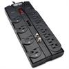 Tripp Lite Surge Protector 12 Outlet 120V RJ11 Coax 8' Cord 2880 Joule - 12 x NEMA 5-15R - 1.88 kVA - 2880 J - 120 V AC Input - Phone/Fax/Modem/DSL, Coaxial Cable Line
