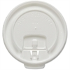 Solo White 8oz Hot Cup Lids - 100 / PackWhite
