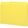 """Smead 100% Recycled Colored Folders - Letter - 8 1/2"""" x 11"""" Sheet Size - 1/3 Tab Cut - Assorted Position Tab Location - 11 pt. Folder Thickness - Yellow - Recycled - 100 / Box"""