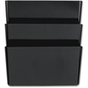 "OIC Wall File - 3 Pocket(s) - 14.5"" Height x 13"" Width x 4.1"" Depth - Wall Mountable, Partition-mountable - Recycled - Black - 3 / Pack"