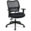 "Office Star Space Air Grid 13-37N9WA Deluxe Task Chair - Black Seat - 5-star Base - 20"" Seat Width x 20"" Seat Depth - 27"" Width x 24"" Depth x 41.3"" Height"