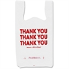 "COSCO Thank You Plastic Bags - 11"" Width x 22"" Length - 0.55 mil (14 Micron) Thickness - High Density - Plastic - 250/Box - White"