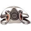3M 6100 Half Facepiece Reusable Respirator - Particulate, Gases, Vapor Protection - Thermoplastic Elastomer (TPE) - Black, Gray - 1 Each