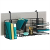 "Safco Gridworks Compact Organizing System - 38"" Width x 15"" Depth - Wall Mountable - Charcoal, Charcoal Gray - Steel - 1Each"