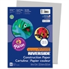 "Riverside Groundwood Construction Paper, 9"" x 12"", Gray, 50 Sheets - 12"" x 9"" - 76 lb Basis Weight - 50 / Pack - Gray - Groundwood"