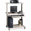 "Mobile Multimedia Computer Workstation - Rectangle Top - 36.75"" Table Top Width x 21.25"" Table Top Depth - 50"" Height - Assembly Required"