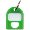 "CARL Color-coded Key Tag - 1"" Length x 0.75"" Width - 1 Each - Plastic - Green"