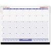 "Recycled Desk Pad Calendar - Julian - Monthly - 1 Year - January 2017 till December 2017 - 1 Month Single Page Layout - 22"" x 17"" - Desk Pad - Paper, Vinyl - Perforated"