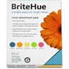 "BriteHue Copy & Multipurpose Paper - Letter - 8.50"" x 11"" - 65 lb Basis Weight - Smooth, Vellum - 125 / Pack - Ultra Lemon, Ultra Orange, Ultra Lime, Ultra Pink, Sea Blue"