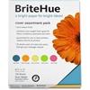 "BriteHue Copy & Multipurpose Paper - Letter - 8.50"" x 11"" - 65 lb Basis Weight - Smooth, Vellum - 125 / Pack - Ultra Lemon, Ultra Orange, Ultra Lime, Ultra Pink, Sea Blue"