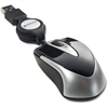 Verbatim Mini Travel Optical Mouse - Black - Optical - Cable - Black - USB - 1000 dpi - Scroll Wheel