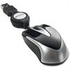 Verbatim Mini Travel Optical Mouse - Black - Optical - Cable - Black - USB - 1000 dpi - Scroll Wheel