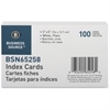 "Business Source Plain Index Card - 5"" Width x 3"" Length - 100 / Pack"