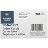 "Business Source Ruled Index Card - 5"" Width x 3"" Length - 100 / Pack"