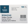 "Business Source Plain Index Card - 6"" Width x 4"" Length - 100 / Pack"