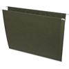 "Business Source Standard Hanging File Folder - Letter - 8 1/2"" x 11"" Sheet Size - 11 pt. Folder Thickness - Green - Recycled - 25 / Box"
