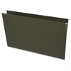 "Business Source Standard Hanging File Folder - Legal - 8 1/2"" x 14"" Sheet Size - 11 pt. Folder Thickness - Green - Recycled - 25 / Box"