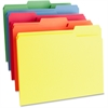 "Business Source Color-coding Top Tab File Folder - Letter - 8 1/2"" x 11"" Sheet Size - 1/3 Tab Cut - Assorted Position Tab Location - 11 pt. Folder Thickness - Assorted - Recycled - 100 / Box"