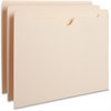 "Business Source Flat File Pocket - Letter - 8 1/2"" x 11"" Sheet Size - 11 pt. Folder Thickness - Manila - Recycled - 100 / Box"