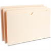 "Business Source Flat File Pocket - Legal - 8 1/2"" x 14"" Sheet Size - 11 pt. Folder Thickness - Manila - Recycled - 100 / Box"