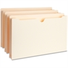 "Business Source Expanding File Pockets - Legal - 8 1/2"" x 14"" Sheet Size - 1 1/2"" Expansion - 11 pt. Folder Thickness - Manila - Recycled - 50 / Box"